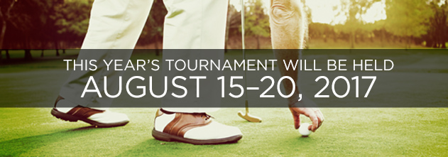 This year's tournament is August 15 to 20th, 2017